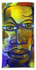 Beach Towel featuring the painting Abstract Young Man by Raymond Doward