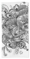 Abstract2 Beach Sheet by Quwatha Valentine