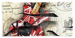 Abstracta 35 Eddie's Guitar Beach Towel