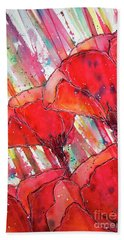Abstracted Poppies No.2 Beach Towel
