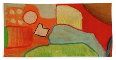Beach Towel featuring the pastel Abstraction123 by Paul McKey