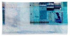 Beach Sheet featuring the digital art Abstractitude - C02v by Variance Collections