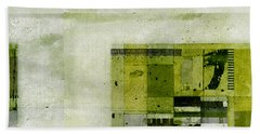 Beach Towel featuring the digital art Abstractitude - C4bv2 by Variance Collections