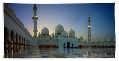 Abu Dhabi Grand Mosque Beach Towel