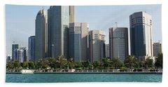 Abu Dhabi Beach Towel by Hanza Turgul