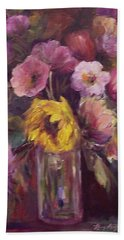 Abundance- Floral Painting Beach Towel