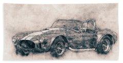 Ac Cobra - Shelby Cobra 1 - 1962s - Automotive Art - Car Posters Beach Towel