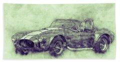 Ac Cobra - Shelby Cobra 3 - 1962s - Automotive Art - Car Posters Beach Towel