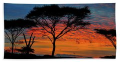 Acacia Surnise On The Serengeti Beach Towel
