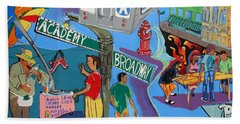 Academy And Broadway Beach Towel