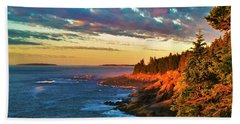 Acadia At Dawn Beach Towel