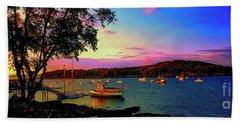 Acadia Bar Harbor Sunset Cruises.tif Beach Towel