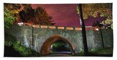 Acadia Carriage Bridge Under The Stars Beach Towel