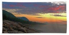 Acadia Sunrise  Beach Towel