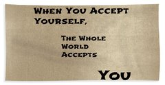Acceptance Beach Towel