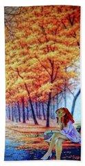 Autumn Blithe Beach Towel