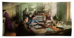 Beach Towel featuring the photograph Accountant - The- Bookkeeping Dept 1902 by Mike Savad