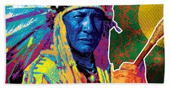 Aceca Indian Chief Beach Towel