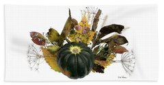 Beach Towel featuring the digital art Acorn Squash Bouquet by Lise Winne