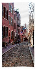 Acorn Street Beacon Hill Beach Towel