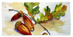 Acorns And Leaves Beach Sheet