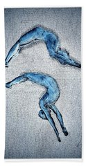 Acrobatic Gesture Beach Towel