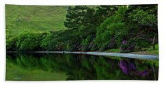 Beach Towel featuring the photograph Across From Kylemore Abbey by Patricia Griffin Brett