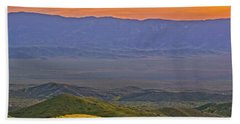 Across The Carrizo Plain At Sunset Beach Towel