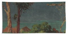 Across The Firth Of Thames Beach Towel