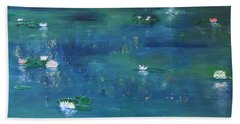Across The Lily Pond Beach Towel