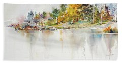 Across The Pond Beach Towel