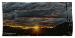 Across The Tracks Beach Towel