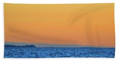 Beach Towel featuring the photograph Across The Water  by Lyle Crump