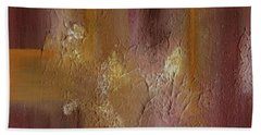 Acrylic Abstract Painting Clouds Beach Towel