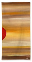 Acrylic Abstract Painting Sunny Day Beach Towel by Saribelle Rodriguez