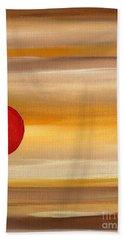 Acrylic Abstract Painting Sunny Day Beach Towel