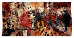 Acrylic Abstraction-an Urban Theme#1 Beach Sheet