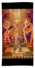 Act 3 Burlesque Circus Follies Beach Sheet by Joseph J Stevens