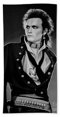 Adam Ant Painting Beach Towel by Paul Meijering