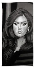 Adele Mixed Media Beach Towel