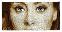 Adele Painting Circle Pattern 2 Beach Sheet by Tony Rubino