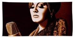 Adele Skyfall Gold Beach Towel