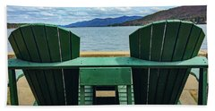 Beach Towel featuring the photograph Adirondack Chair For Two by Kendall McKernon