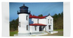 Admiralty Head Lighthouse #2 Beach Towel