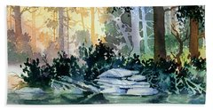 Beach Sheet featuring the painting Admiralty Island by Teresa Ascone