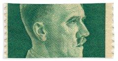 Adolf Hitler 42 Pfennig Stamp Classic Vintage Retro Beach Sheet