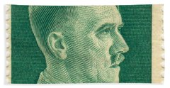 Adolf Hitler 42 Pfennig Stamp Classic Vintage Retro Beach Towel