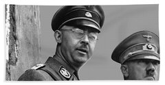 Adolf Hitler And Gestapo Head Heinrich Himmler Watching Parade Of Nazi Stormtroopers 1940-2015 Beach Sheet by David Lee Guss