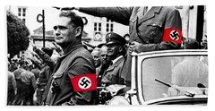 Adolf Hitler Giving The Nazi Salute From A Mercedes #3 C. 1934-2015 Beach Sheet