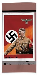 Adolf Hitler In Color With Nazi Symbols Unknown Date Additional Color Added 2016 Beach Towel